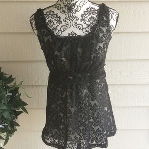 Maurice's Lace Sleeveless Blouse